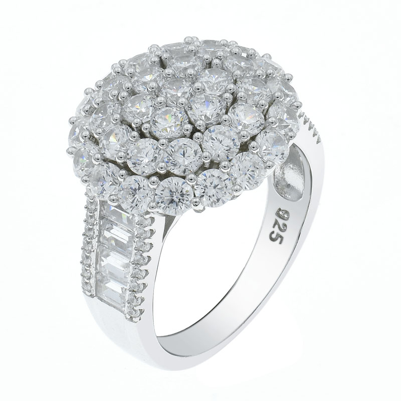 925 sparkling cz ring for ladies