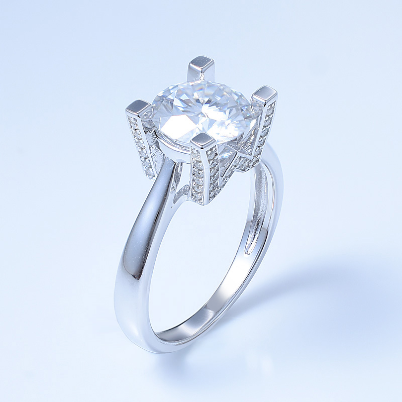 Silver Solitaire Wedding Ring For Ladies